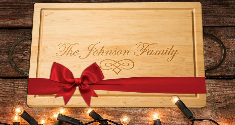 monogrammed wood cutting boards, personalized cutting boards, wooden
