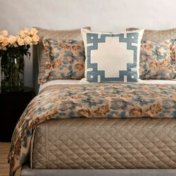 Smokey Floral Blue Duvet Set
