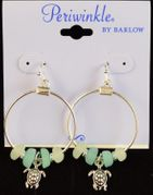 Earrings- hoop with sea glass
