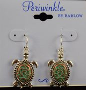 Earrings- Patina Turtles
