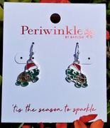 Santa Sea Turtle Earrings