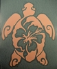 Vinyl Sticker Hibiscus Turtle