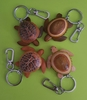 Wooden Turtle Key Chain