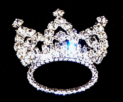 Austrian Crystal Crown Pin As seen on American Idol!