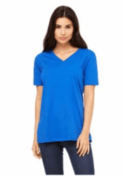 Bella 6405 Ladies Relaxed Jersey Short Sleeved V-Neck