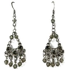"""Black Diamond"" Crystal Chandelier Earrings"