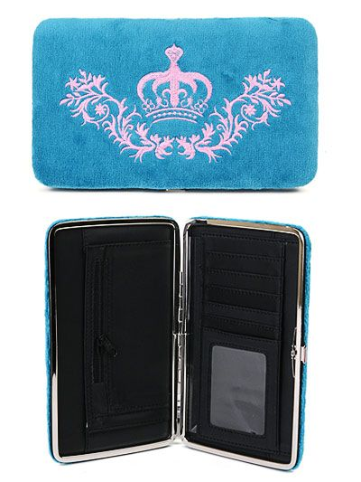 Blue Royalty Velour Wallet or Clutch