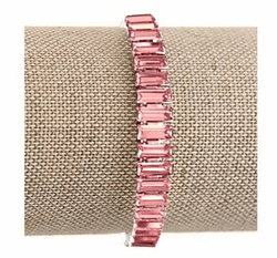 Light Rose Crystal Swarovski Baguette Bracelet