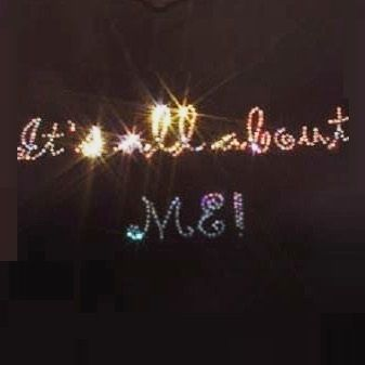 It's all about ME! Sparkling Rhinestone Tee