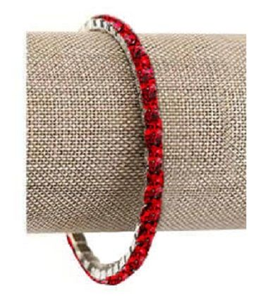 Light Siam (Red) Swarovski Crystal Lightning Bracelet (Silver or Gold)