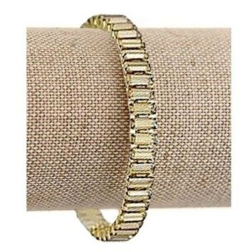 Golden Shadow Swarovski Crystal Baguette Bracelet