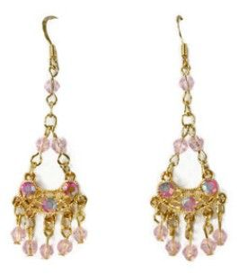 Pink is Pretty Crystal Chandelier Earrings