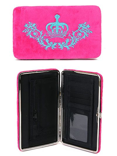 Pink Royalty Velour Wallet or Clutch