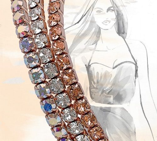 Rose Gold Swarovski Crystal Bracelet Set