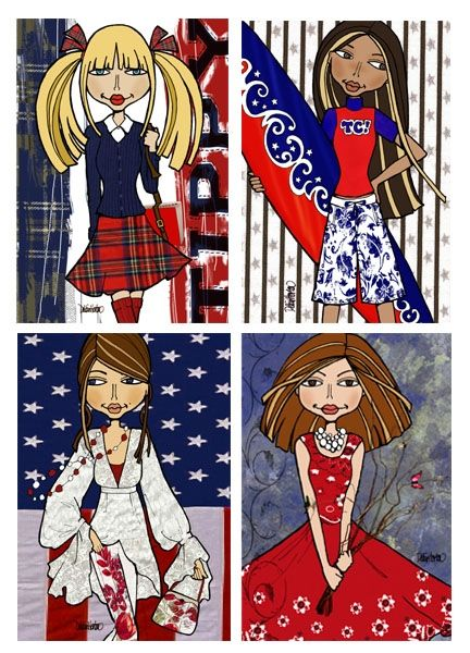 """""""Red White & You"""" Tippy Canoe Card Collection"""