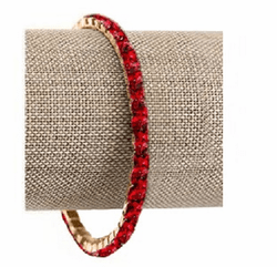 Siam Red Lightning Bracelet in Gold
