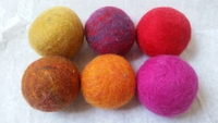 6 pk. Wool Dryer Balls, by Bog Berry