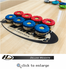 Set of Large Deluxe Weights with Custom Color Weight Cap Options