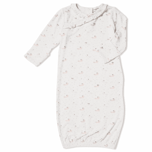 Angel Dear Baby Fox Kimono Gown Pink - Bamboo Gown