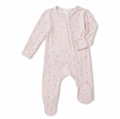 Angel Dear Pink Sheep Zipper Footie. Bamboo material. So soft and cuddly.