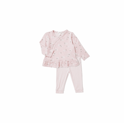 Angel Dear Pink Two Piece Bamboo Sheep Kimono Set. Very soft and cuddly.