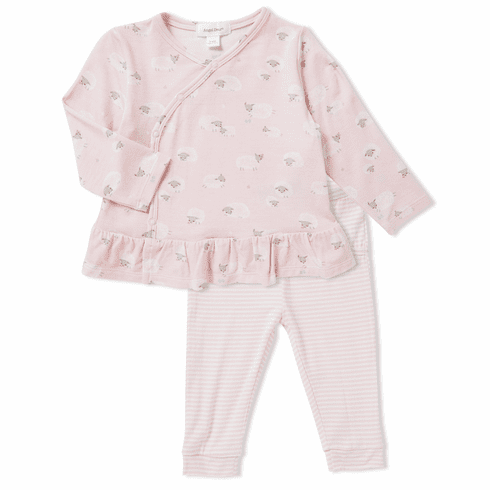 Angel Dear Pink Zebra Two Piece TODDLER Set with Leggings. Bamboo material. So soft and cuddly.