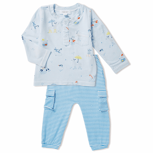 Angel Dear Rainy Day Two Piece Pant Set made of Bamboo. Very soft and cuddly.