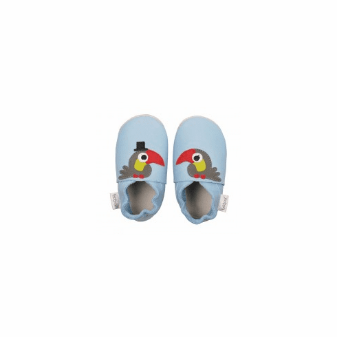 .Bobux very soft Toucan shoes with suede sole to prevent slipping.