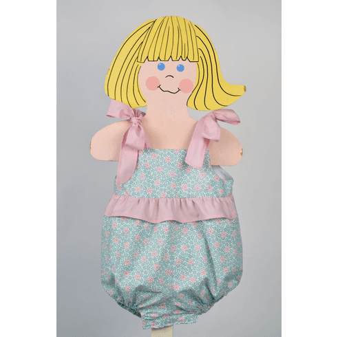 Funtasia Too Ruffle Girl Bubble with Ribbons. Snaps in Inseam.