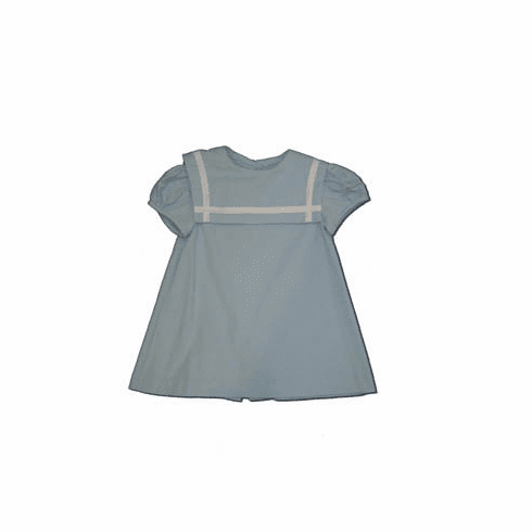 Funtasia Too Sailor Dress of blue corduroy with matching boys outfits.