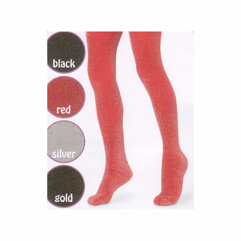 Jefferies Glitter Tights these tights will allow your girl to shine even more.  Comes in black, red, silver, and gold. NO Silver in 4-6 or 6-8.
