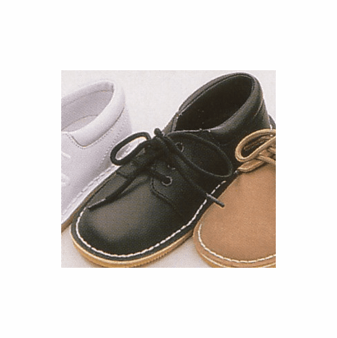 Lamour leather boys lace up shoe. It has a rubber sole to keep from slipping. Great for any dressy occassion.
