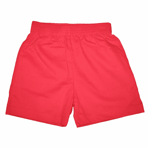 Luigi Red brushed cotton shorts with elastic waist and pockets. Softest and best shorts made. Peruvian pima cotton.