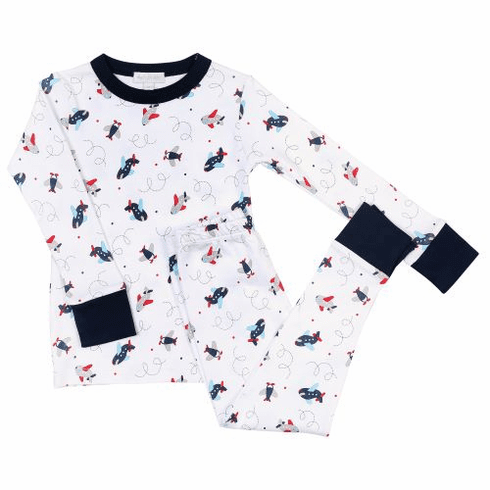 Magnolia Baby In Flight Boys Long Pajamas