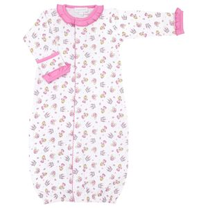 Magnolia Baby Perfect Princess Printed Ruffle Converter Gown. Pink.