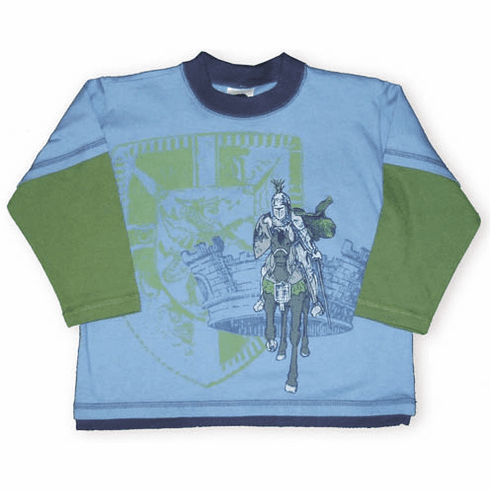 Mulberribush Coat of Arms. A shining knight charges right out of this tee.