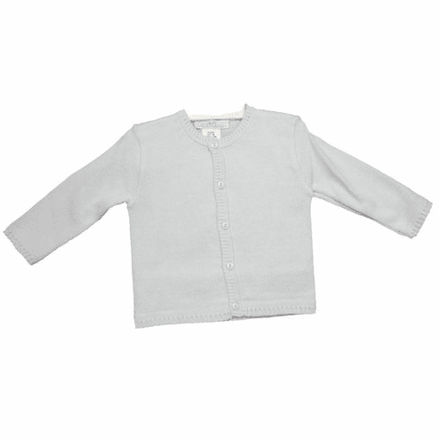 Petit Ami Owen classic light blue sweater. Great to have on hand for a chilly day or an air conditioned building.