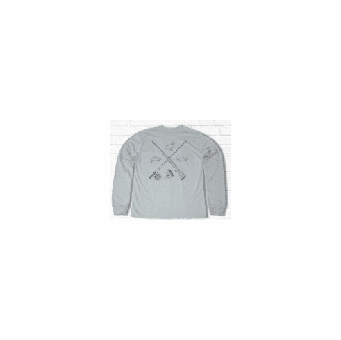 Properly Tied Lil Ducklings Sporting Essentials Long Sleeve Ice Grey. Peruvian Pima Cotton.