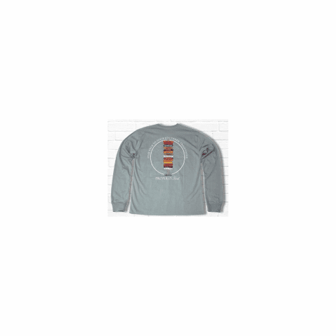 Properly Tied Lil Ducklings Stay True to Your School Long Sleeve Gray. Peruvian Pima Cotton.
