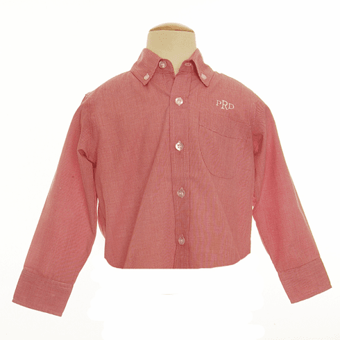 Remember Nguyen Red Check Long Sleeved Brother Shirt