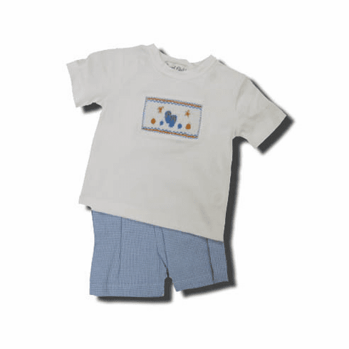 Royal Child Flip Floppin Around short set that is so fun and great for your boy. Matches the girls.