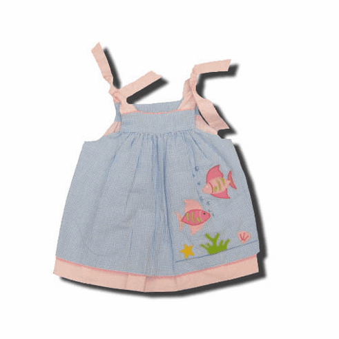Royal Child Somethings Fishy very cute reversible dress that ties at the shoulders.