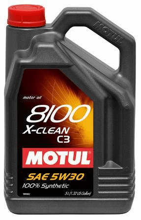 8100 5W30 X-CLEAN C3 1.3 Gallon Container
