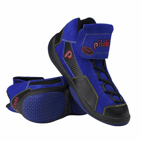 Corsa Race Professional Driving Shoe in Race Blue and Carbon Color