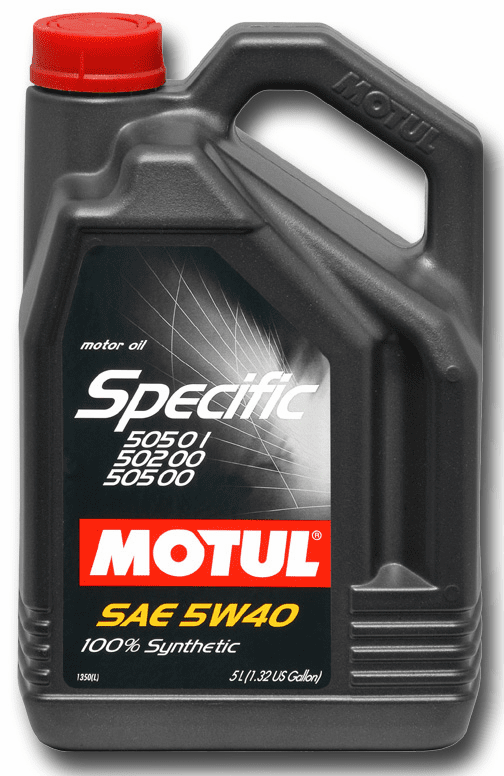 MOTUL 5W-40 OEM Specific Oils VW 505.01 502.00 505.00 1.3 Gallon 5L Container