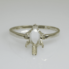 10x5 Marquise Solitaire Sterling Silver Ring Setting