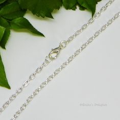 """18"""" Silver Plated Cable Chain with Lobster Clasp (Width 1.8mm)"""