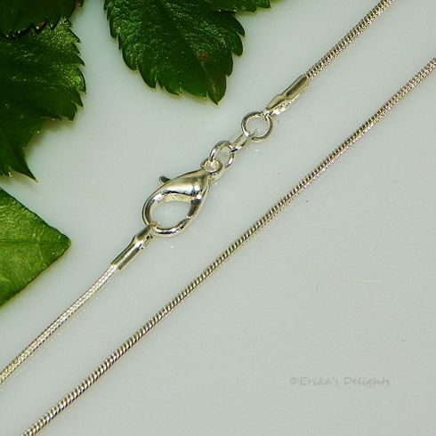 """18"""" Silver Plated Snake Chain with Lobster Clasp (Width 1.2mm)"""