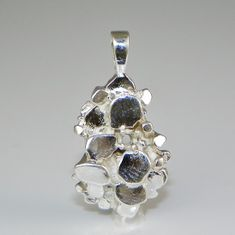 2mm Round Nugget Pre-Notched Sterling Silver Pendant Setting