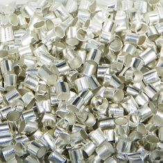 2mm Silver Plated Crimps Tube Beads